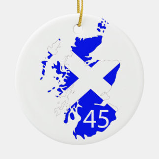 Scotland Saltire Map Christmas Tree Ornaments