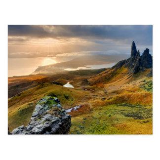 Scotland Scenic Rolling Hills Landscape Postcard