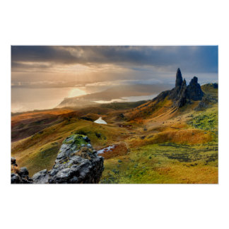 Scotland Scenic Rolling Hills Landscape Poster