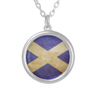 Scotland, Scotland, Scotland Silver Plated Necklace