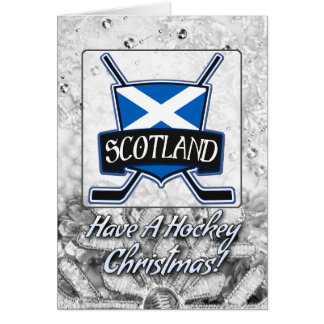 Scotland Scottish Ice Hockey Christmas card