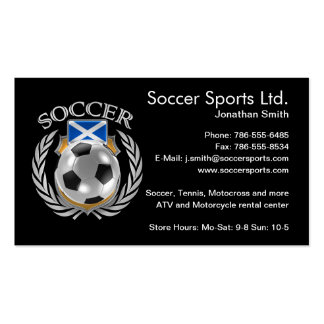 Scotland Soccer 2016 Fan Gear Pack Of Standard Business Cards