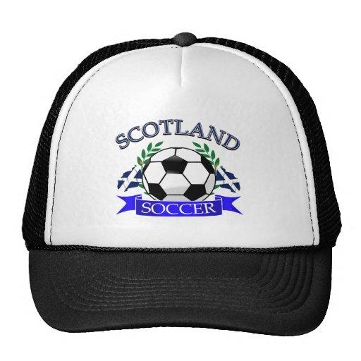 Scotland soccer ball designs trucker hat