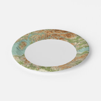 Scotland southern section paper plate