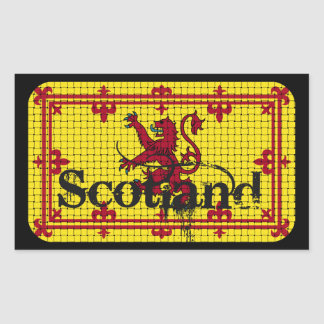 Scotland Standard Flag Rectangular Sticker