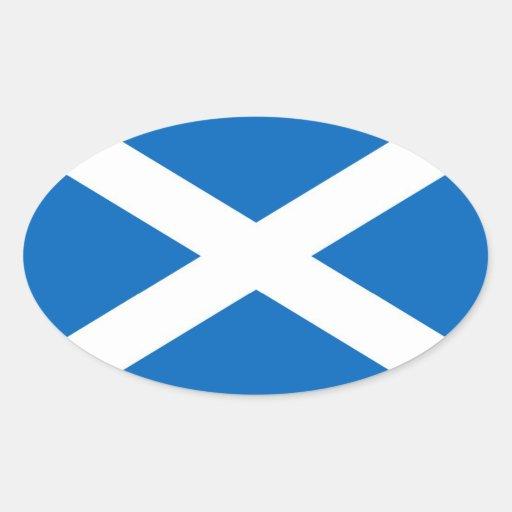 SCOTLAND OVAL STICKERS
