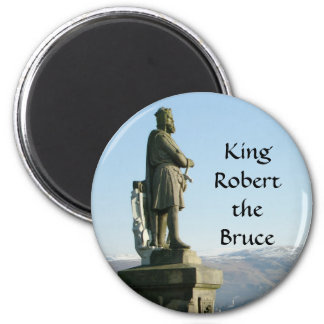 Scotland Stirling King Robert the Bruce 6 Cm Round Magnet