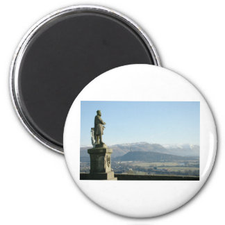 Scotland Stirling King Robert the Bruce 6 Cm Round Magnet
