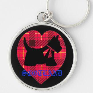 Scotland Tartan Westie Premium Key Chain