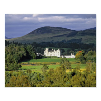 Scotland, Tayside, Blair Castle. In an emerald Poster