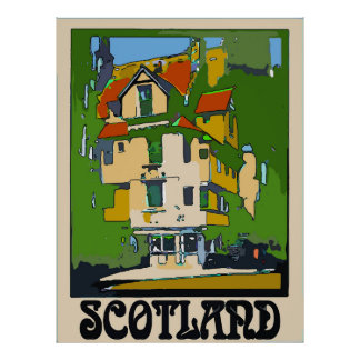 Scotland, Travel Poster, add text Poster