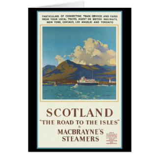 Scotland Travel Poster Card