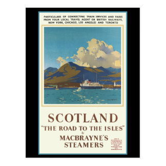 Scotland Travel Poster Postcard