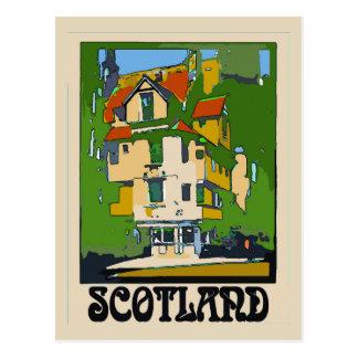 Scotland Travel Poster Postcard