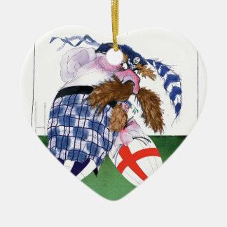 scotland v england balls, tony fernandes christmas ornament