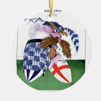 scotland v england balls, tony fernandes round ceramic decoration