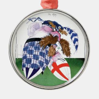 scotland v england balls, tony fernandes Silver-Colored round decoration