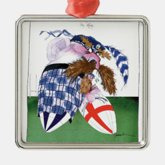 scotland v england balls, tony fernandes Silver-Colored square decoration