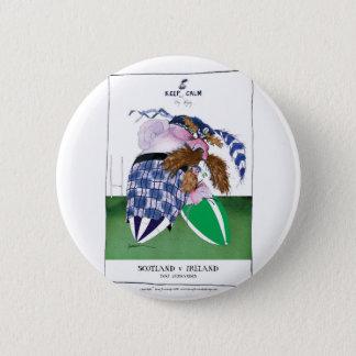 scotland v ireland rugby balls tony fernandes 6 cm round badge