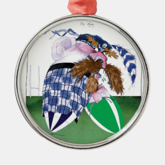 scotland v ireland rugby balls tony fernandes Silver-Colored round decoration