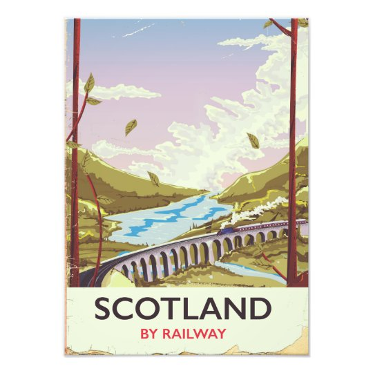 Vintage Edinburgh Scotland Travel Poster