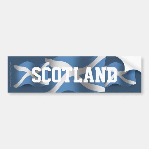 Scotland Waving Flag Bumper Stickers