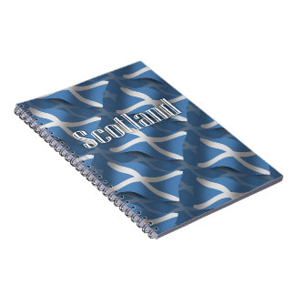Scotland Waving Flag Notebooks
