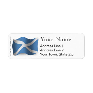 Scotland Waving Flag Return Address Label