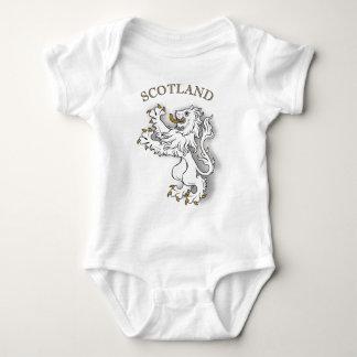 Scotland white lion baby bodysuit