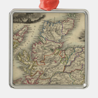 Scotland with inset map of the Shetland Islands Christmas Ornament