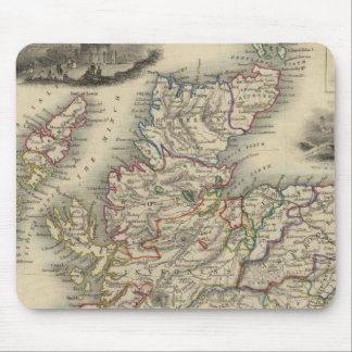 Scotland with inset map of the Shetland Islands Mouse Mat