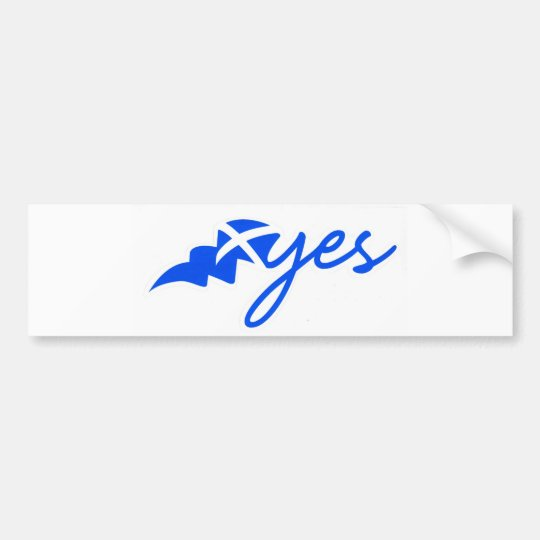 scotland yes bumper sticker
