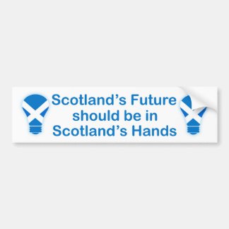 Scotland's Future Scottish Independence Sticker Bumper Sticker