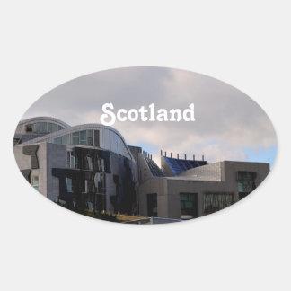 Scotland's Parliament Oval Stickers