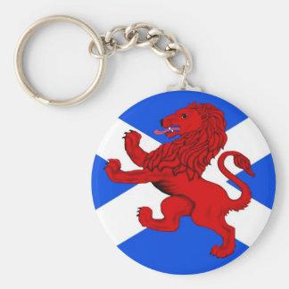 Scotland's Rampant lion Basic Round Button Key Ring