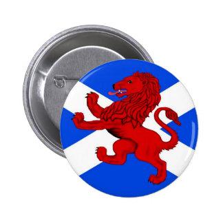 Scotland's Rampant lion, St. Andrews cross Pinback Button