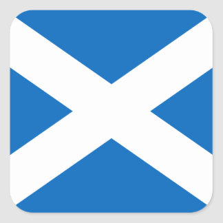 Scotland's Saltire,Scottish Flag (Official Colour) Square Sticker