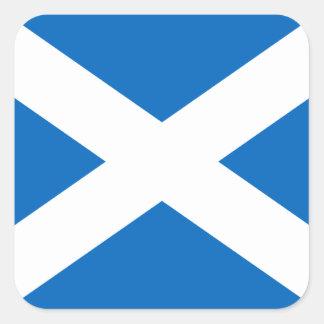 Scotland's Saltire,Scottish Flag (Official Colour) Square Sticker