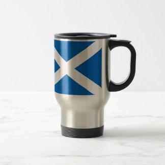 Scotland's Saltire,Scottish Flag (Official Colour) Stainless Steel Travel Mug