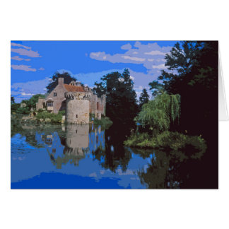 Scotney Castle retro poster-style card