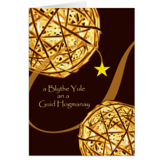 Scots Christmas and New Year, Yule and Hogmanay Greeting Card