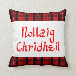scots gaelic merry christmas scottish throw pillow - Merry Christmas In Gaelic