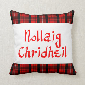 Scots Gaelic Merry Christmas Scottish Throw Pillow