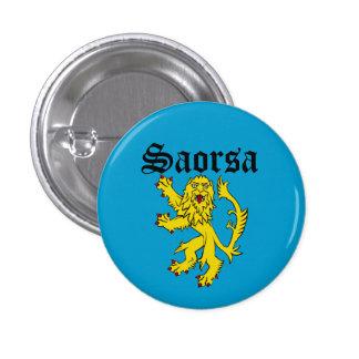 Scots Gaelic Saorsa Freedom Lion Pinback 3 Cm Round Badge