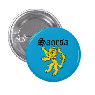 Scots Gaelic Saorsa Freedom Lion Pinback Pinback Button