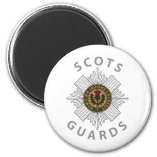 Scots Guards 2 6 Cm Round Magnet
