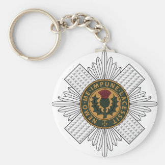 Scots Guards Basic Round Button Key Ring