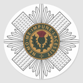 Scots Guards Classic Round Sticker