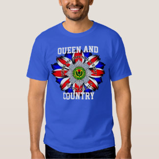 Scots Guards Queen and Country T-Shirt. Tshirts