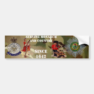 Scots Guards Veteran Bumper Sticker. Bumper Sticker